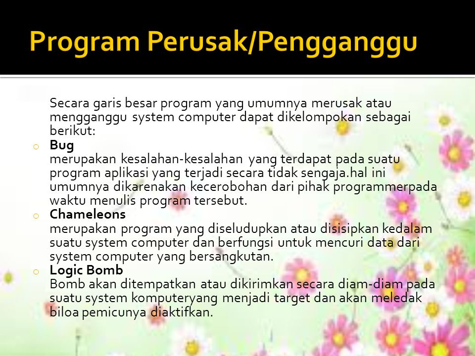 Program Perusak/Pengganggu