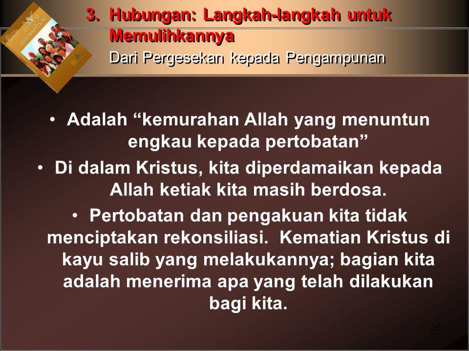 Adalah kemurahan Allah yang menuntun engkau kepada pertobatan