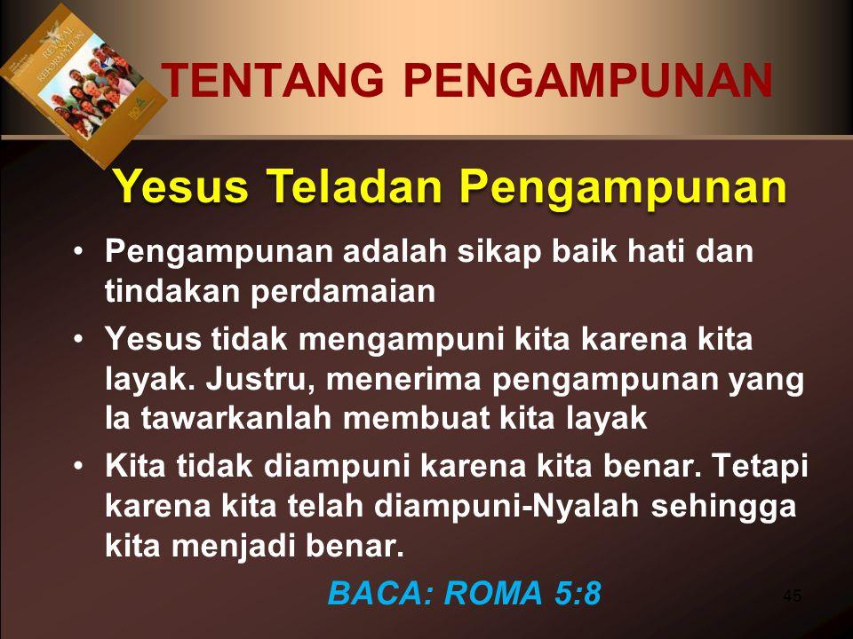Yesus Teladan Pengampunan