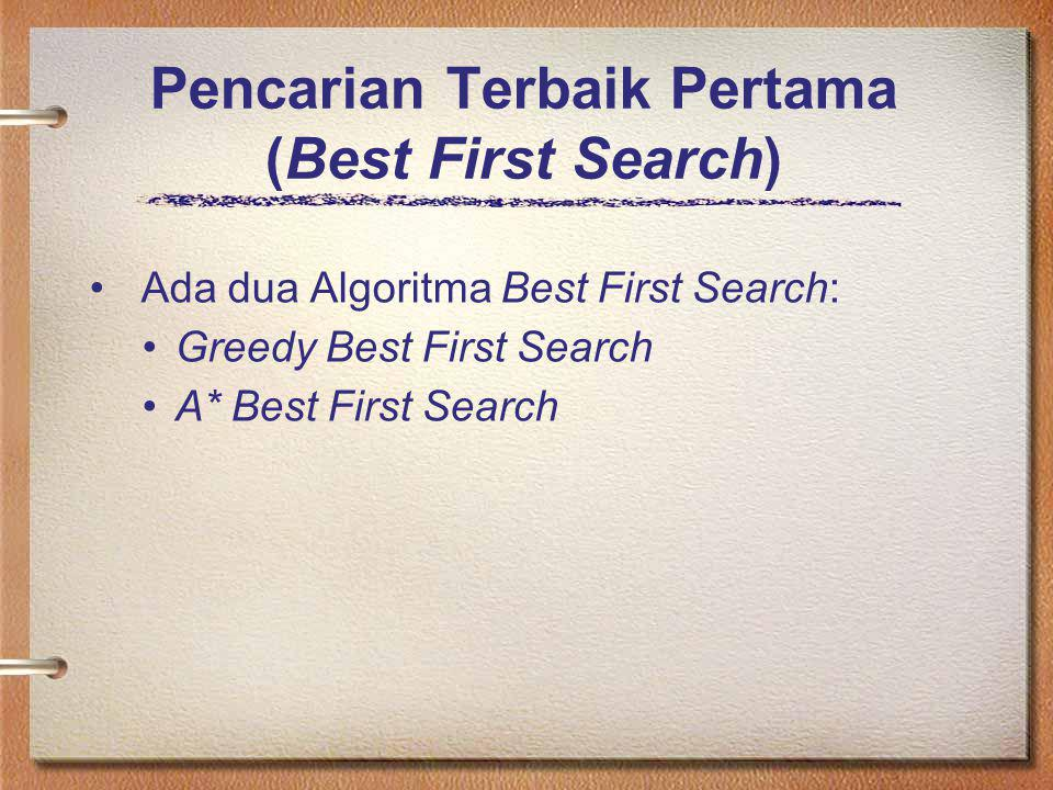 Pencarian Terbaik Pertama (Best First Search)