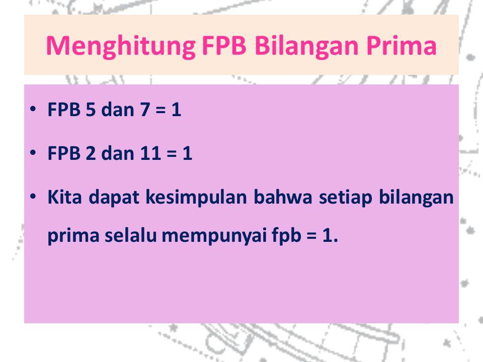Menghitung FPB Bilangan Prima