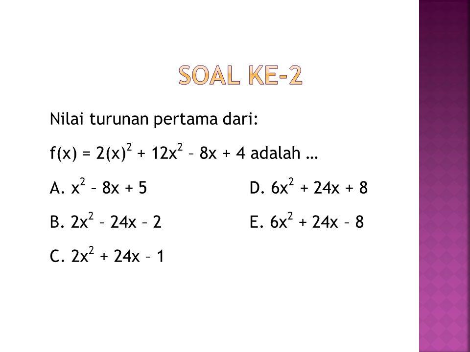 Soal ke-2