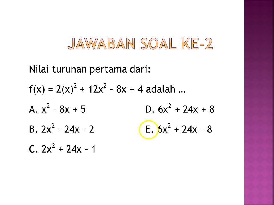 Jawaban soal ke-2