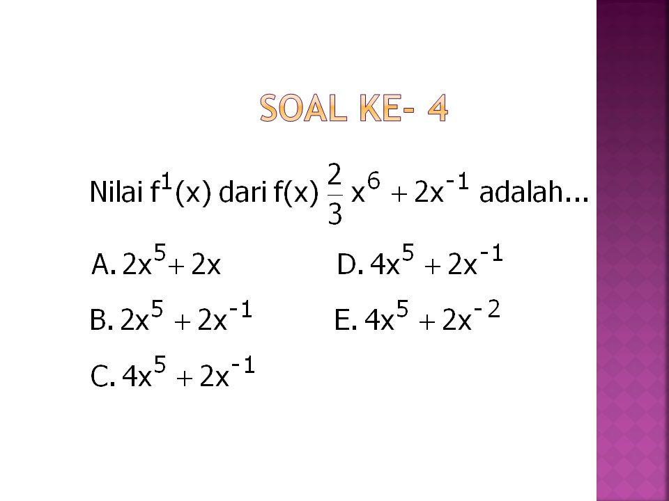 Soal ke- 4
