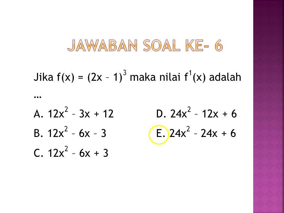 Jawaban Soal ke- 6
