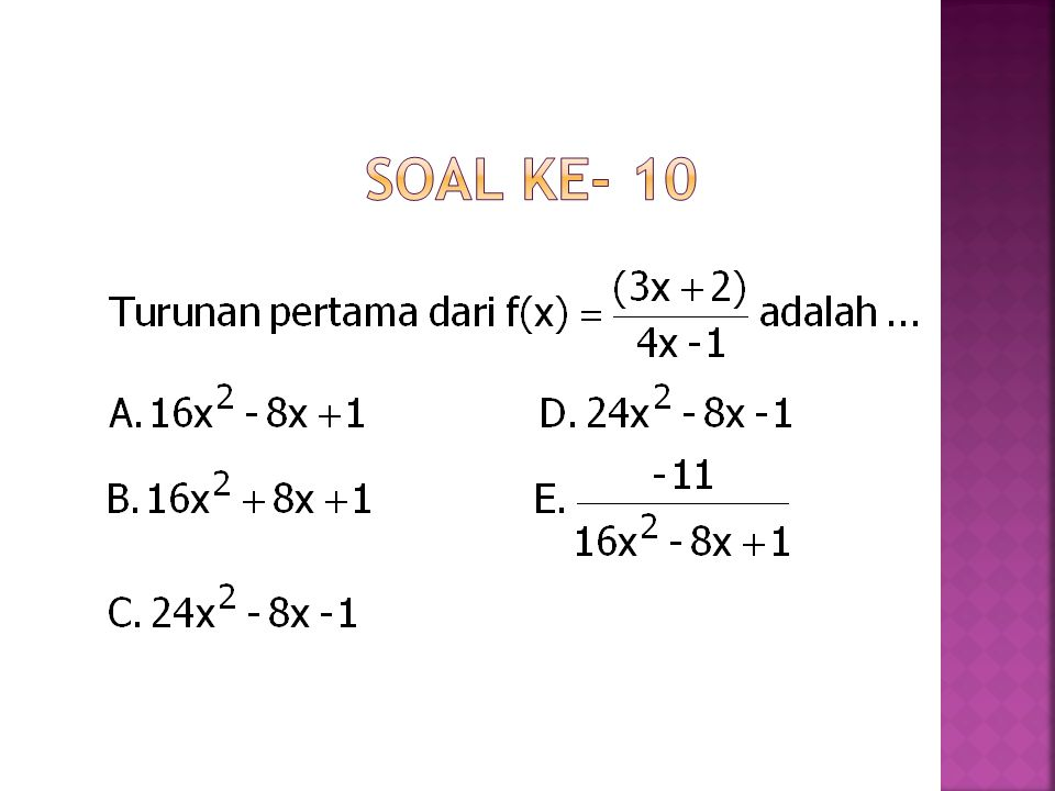 Soal ke- 10