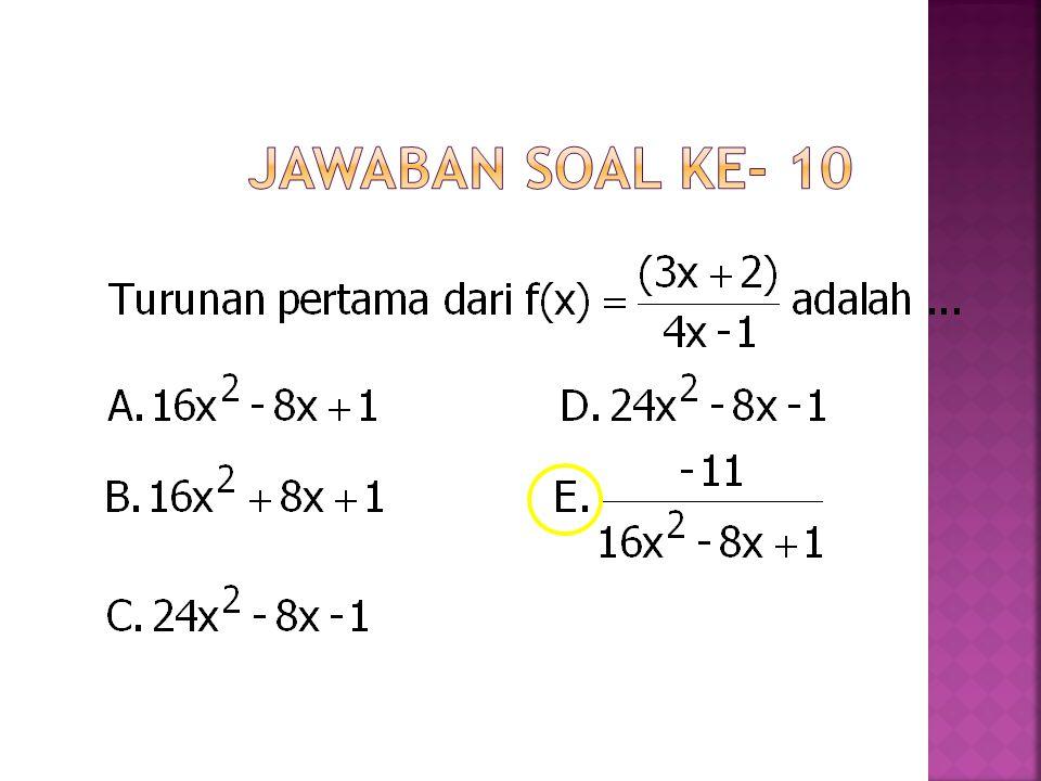 Jawaban Soal ke- 10