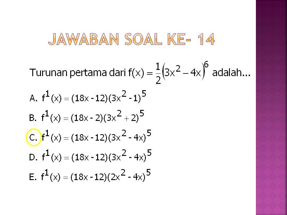 Jawaban Soal ke- 14
