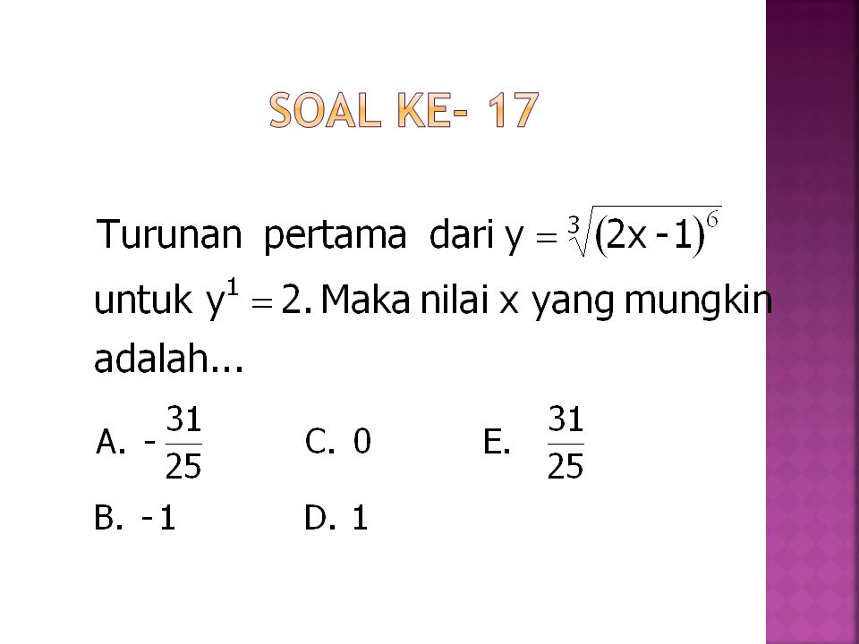 Soal ke- 17