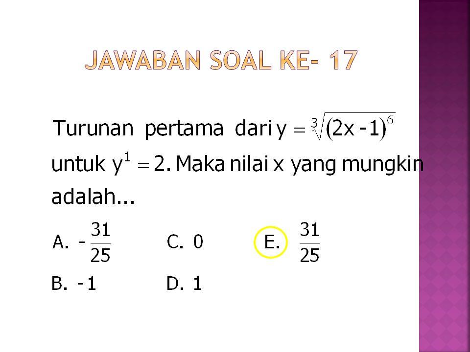 Jawaban Soal ke- 17