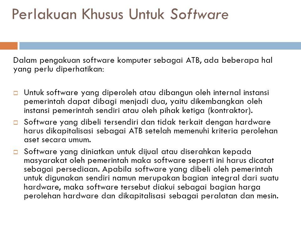 Perlakuan Khusus Untuk Software