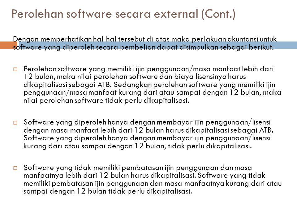 Perolehan software secara external (Cont.)
