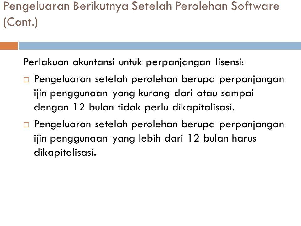 Pengeluaran Berikutnya Setelah Perolehan Software (Cont.)