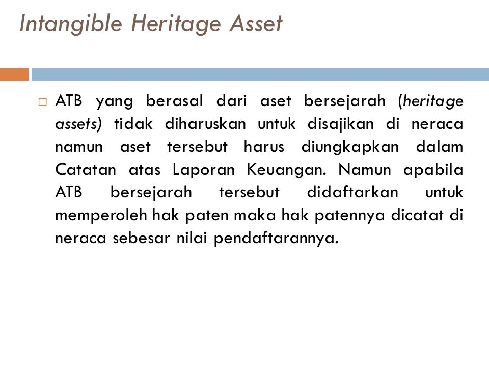 Intangible Heritage Asset