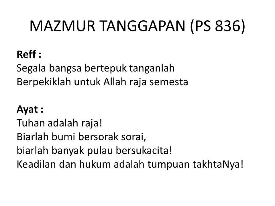 MAZMUR TANGGAPAN (PS 836)