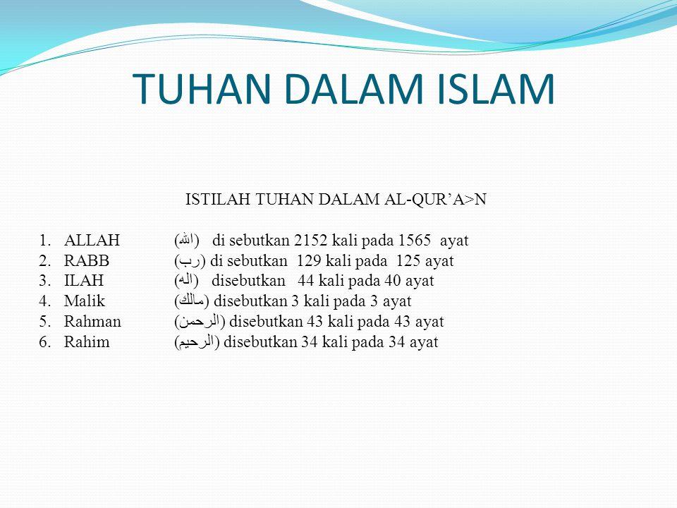 ISTILAH TUHAN DALAM AL-QUR'A>N