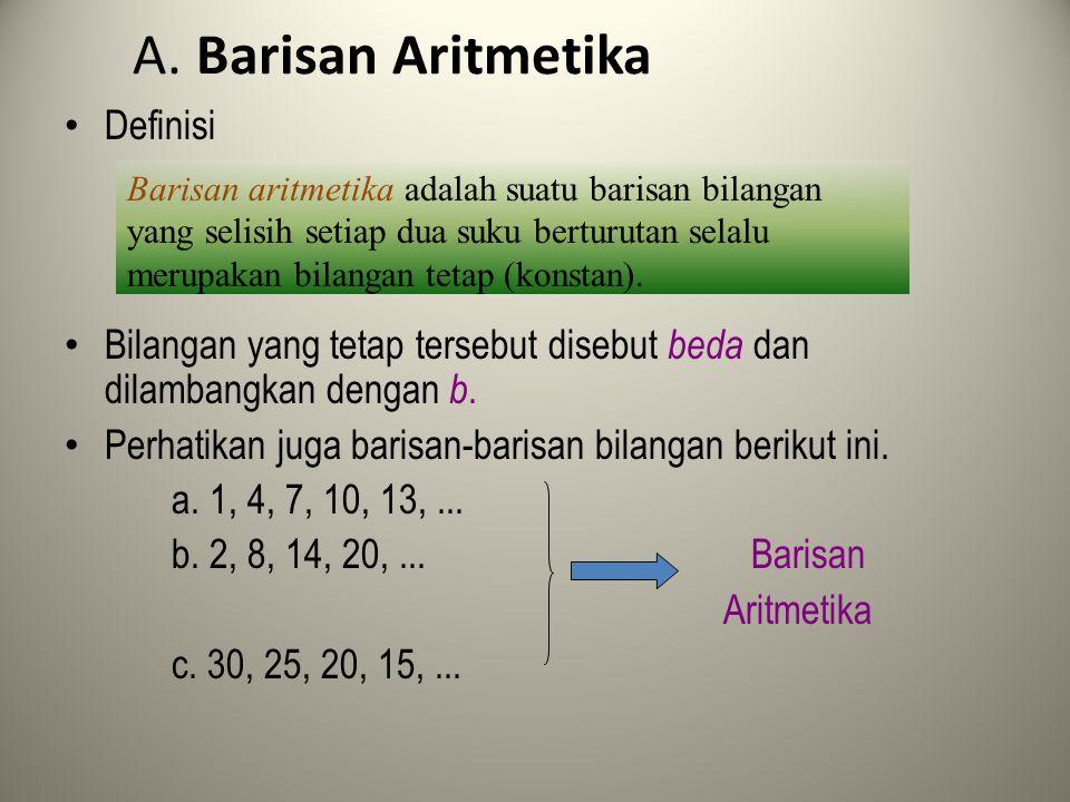 A. Barisan Aritmetika Definisi