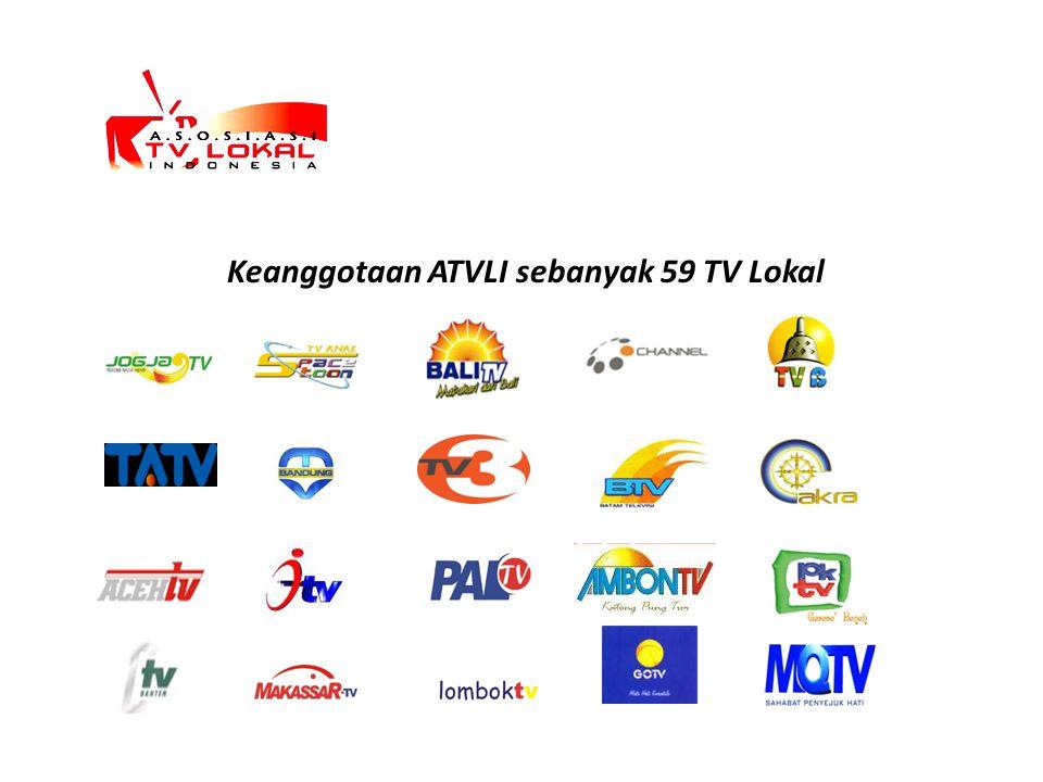 Keanggotaan ATVLI sebanyak 59 TV Lokal