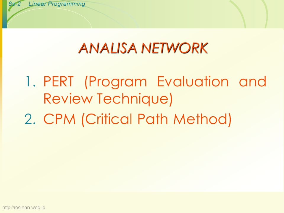 PERT (Program Evaluation and Review Technique)
