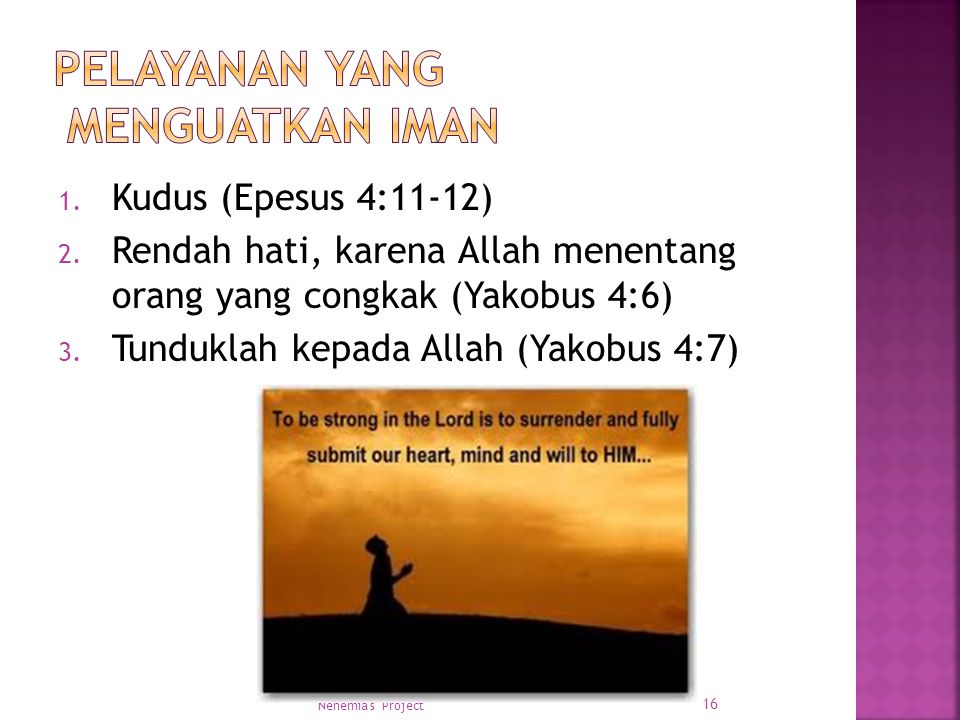 Pelayanan yang menguatkan iman