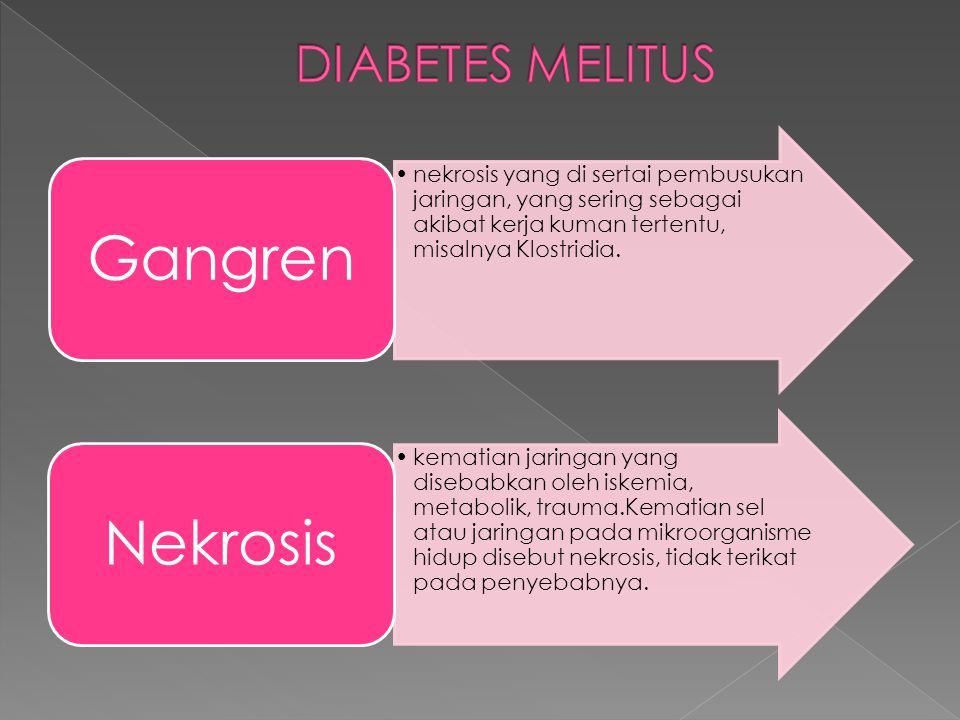 Gangren Nekrosis DIABETES MELITUS