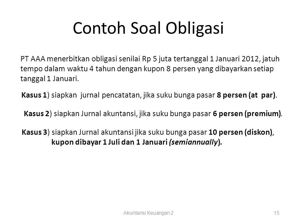 Contoh Soal Obligasi