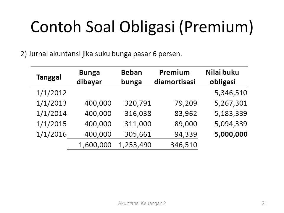 Contoh Soal Obligasi (Premium)