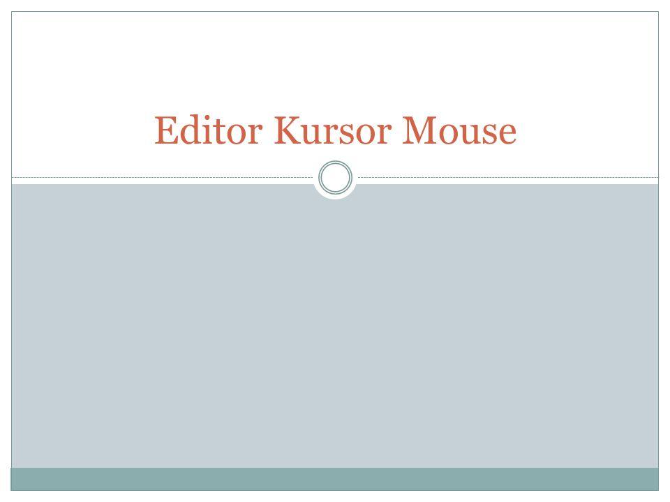 Editor Kursor Mouse