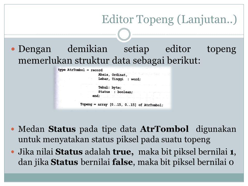 Editor Topeng (Lanjutan..)