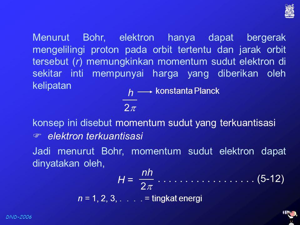 konsep ini disebut momentum sudut yang terkuantisasi