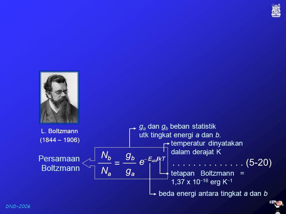 Nb Na gb ga = e . . . . . . . . . . . . . . (5-20) Persamaan Boltzmann