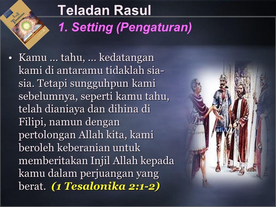 Teladan Rasul 1. Setting (Pengaturan)