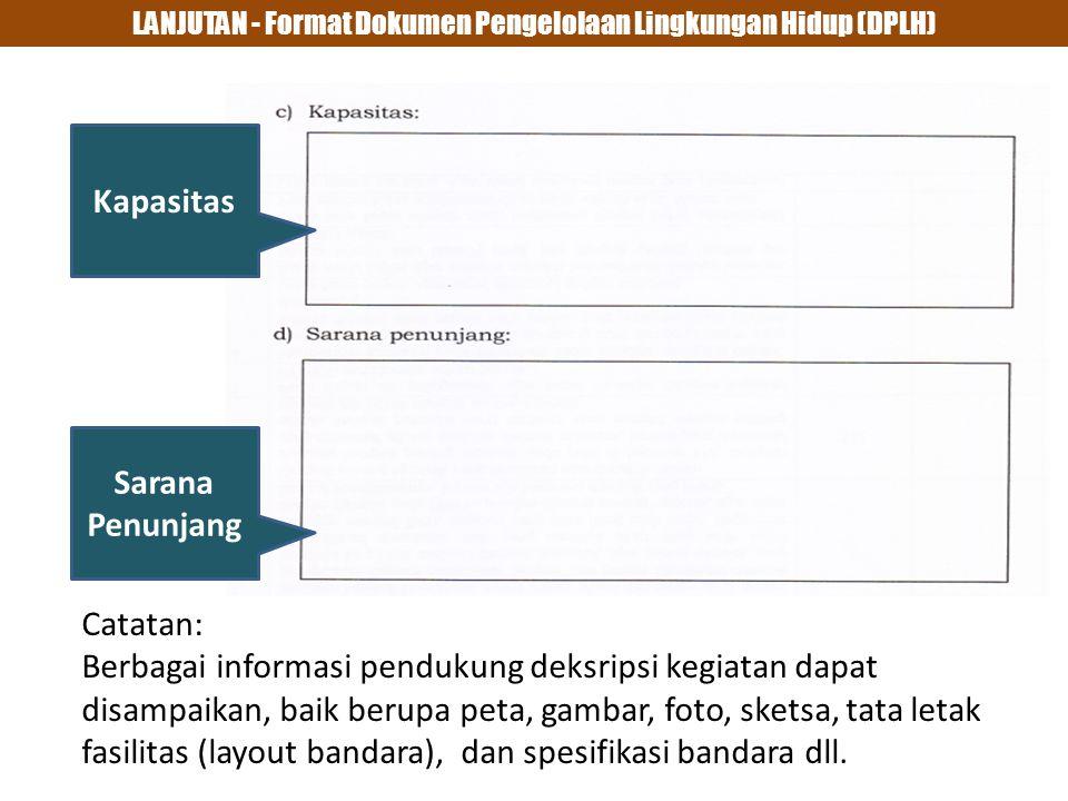 LANJUTAN - Format Dokumen Pengelolaan Lingkungan Hidup (DPLH)