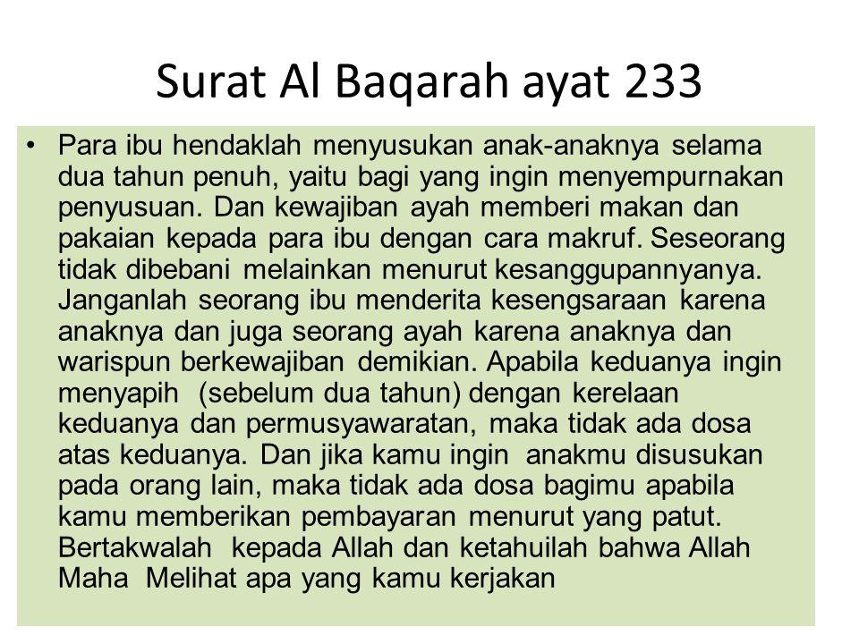 Surat Al Baqarah ayat 233