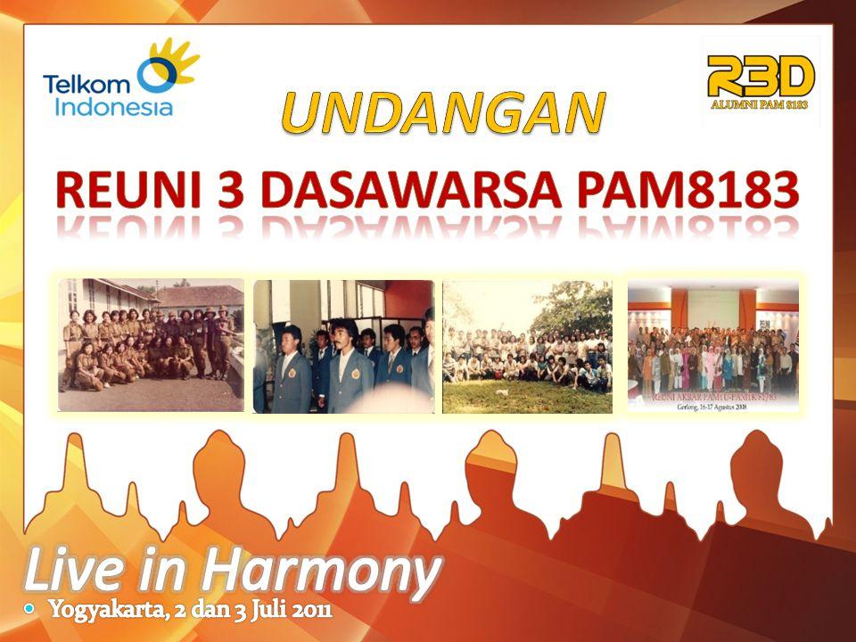 UNDANGAN Live in Harmony REUNI 3 DASAWARSA PAM8183
