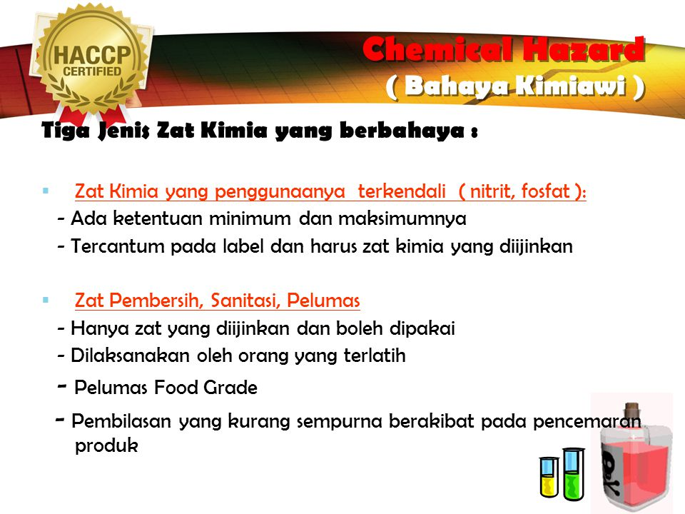 Chemical Hazard ( Bahaya Kimiawi )‏