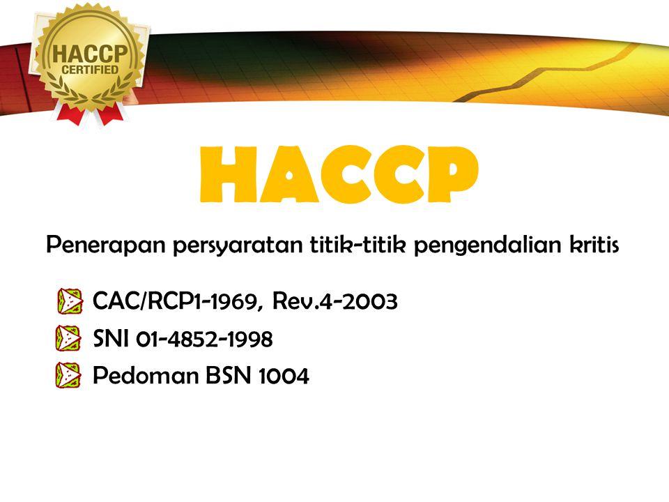 HACCP Penerapan persyaratan titik-titik pengendalian kritis