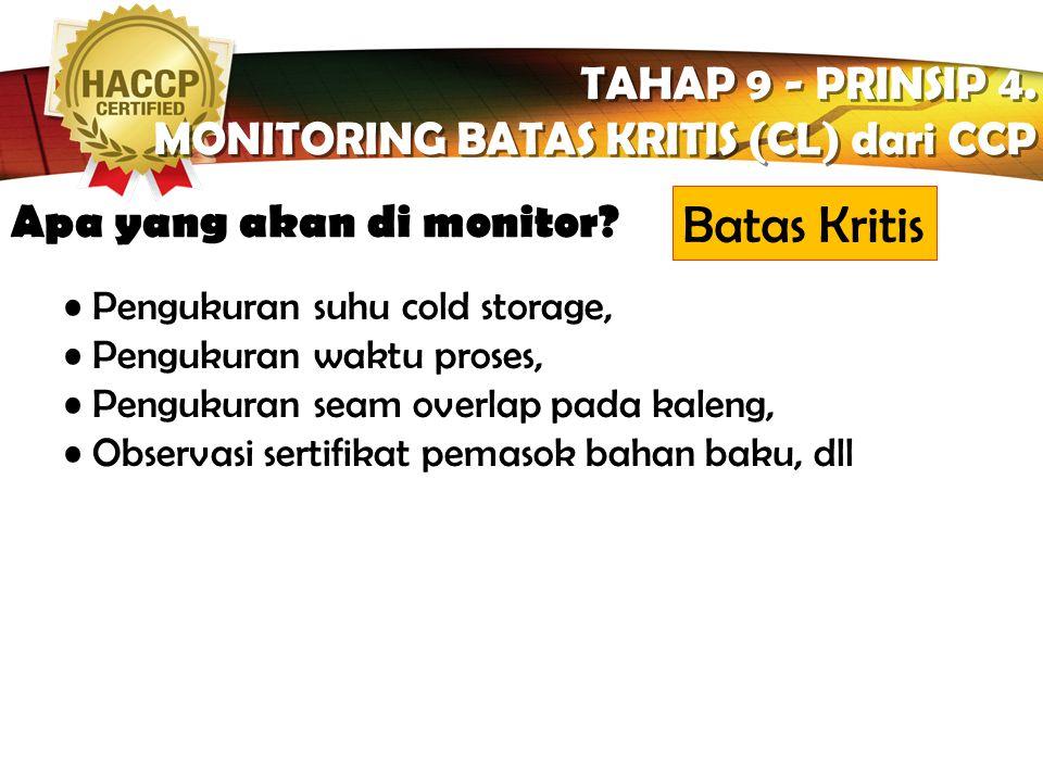 Batas Kritis TAHAP 9 - PRINSIP 4.