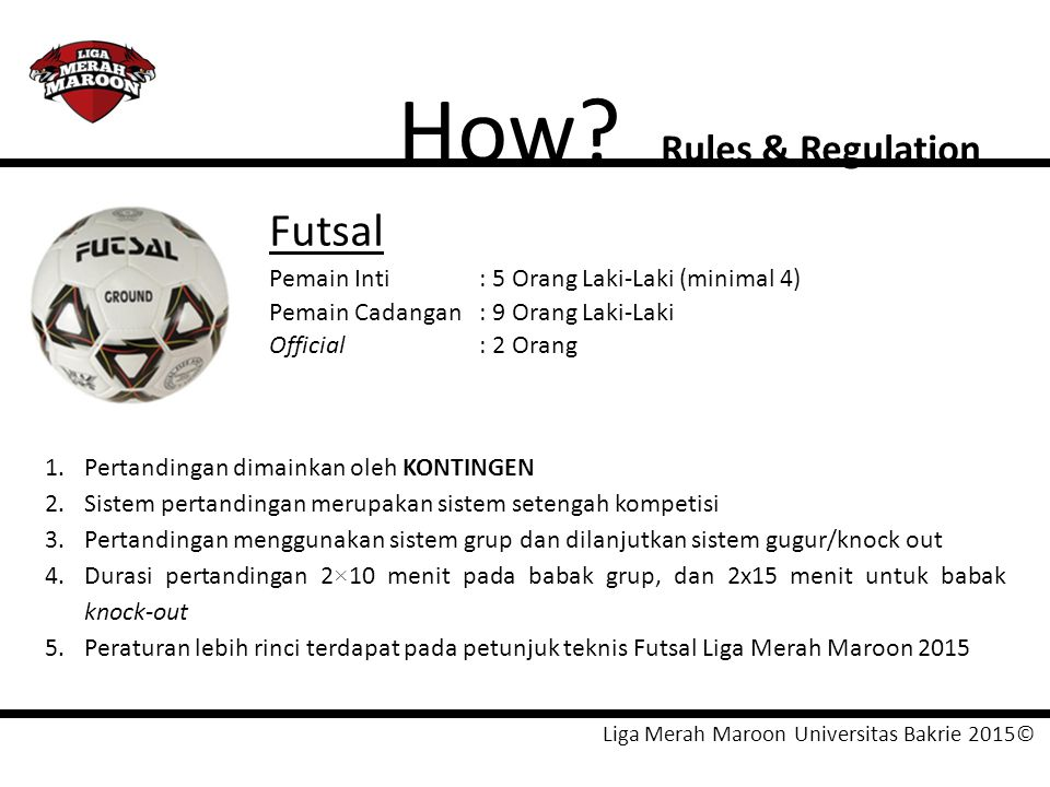 How Futsal Rules & Regulation