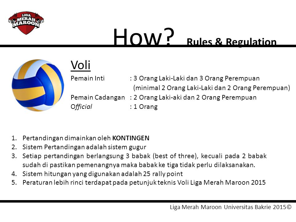 How Voli Rules & Regulation