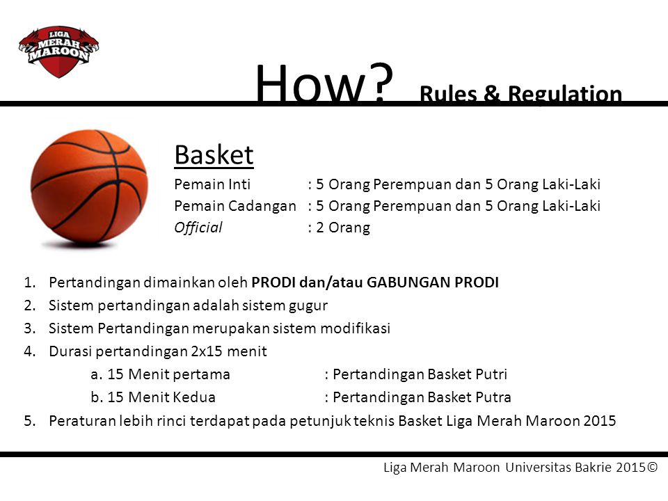 How Basket Rules & Regulation