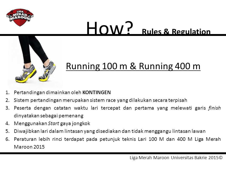 How Running 100 m & Running 400 m Rules & Regulation