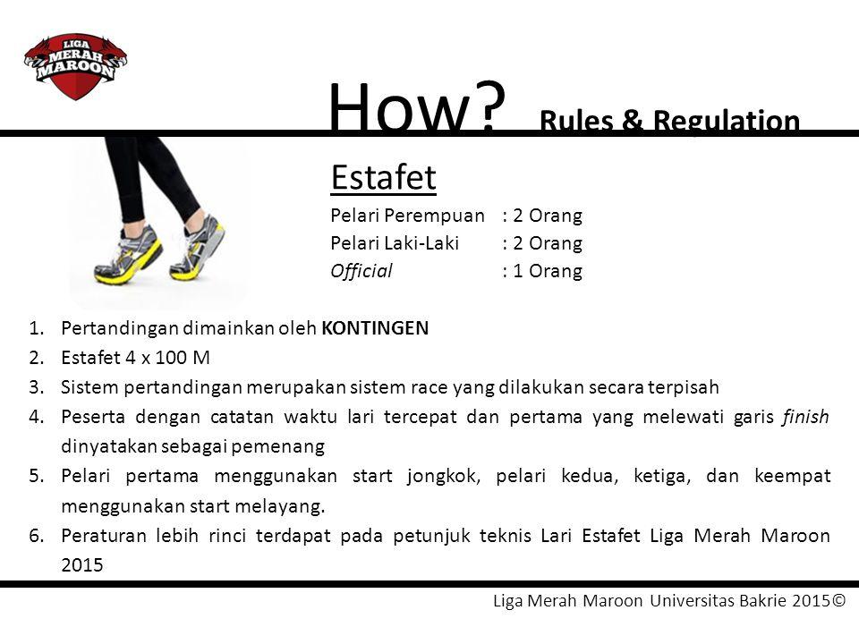 How Estafet Rules & Regulation Pelari Perempuan : 2 Orang