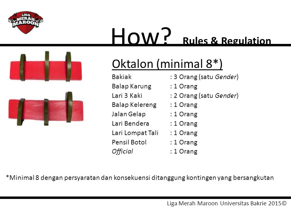 How Oktalon (minimal 8*) Rules & Regulation