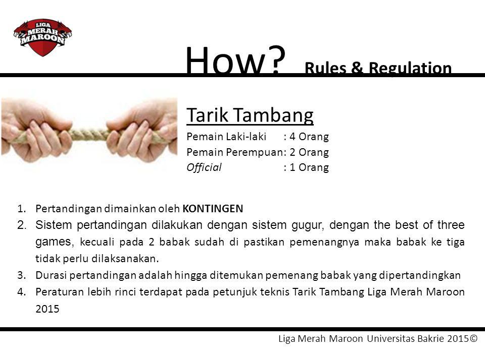How Tarik Tambang Rules & Regulation Pemain Laki-laki : 4 Orang