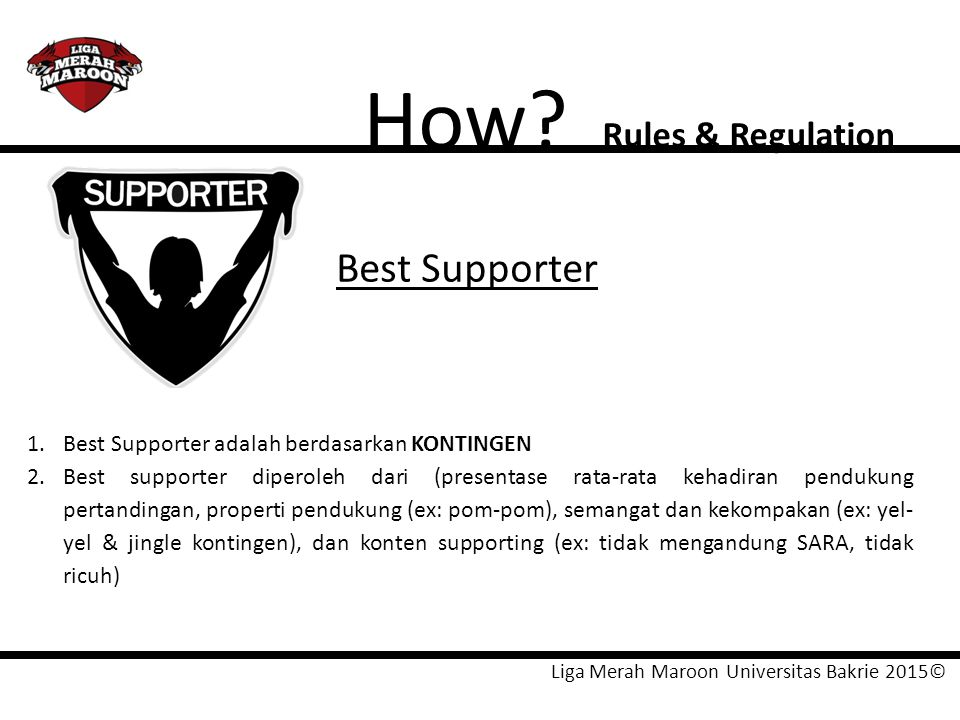 How Best Supporter Rules & Regulation