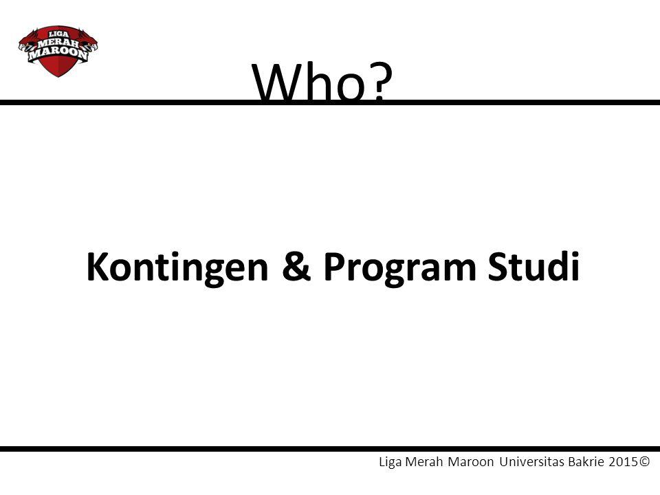 Who Kontingen & Program Studi