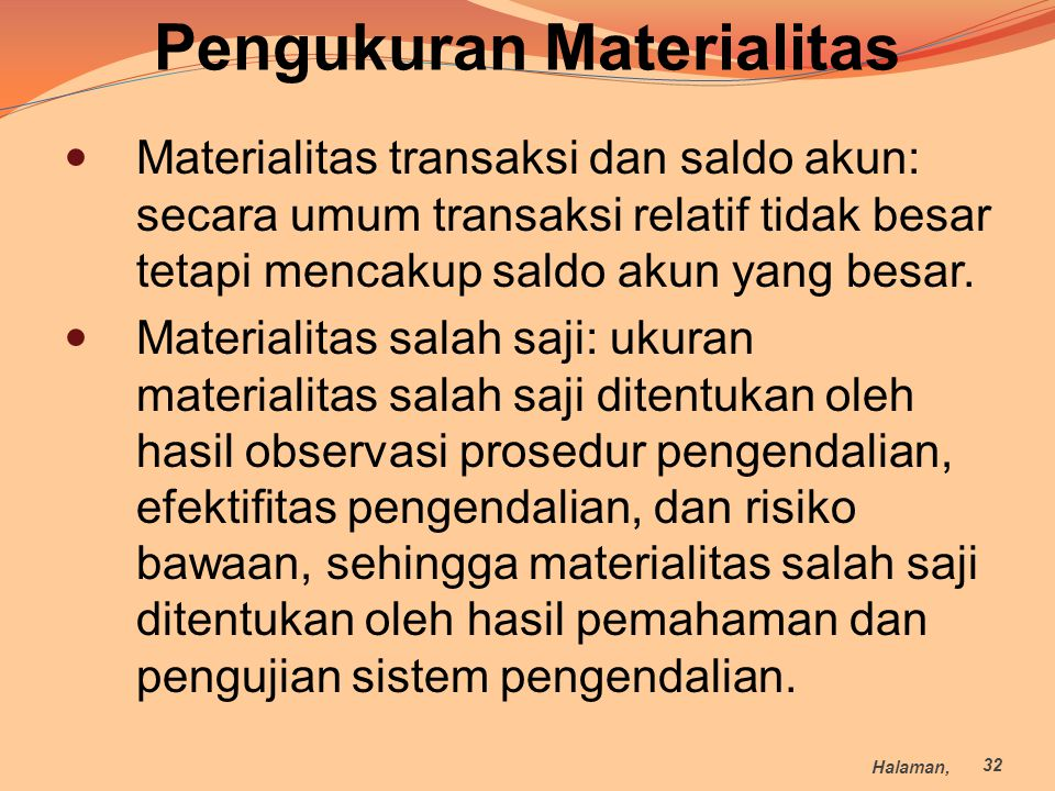Pengukuran Materialitas