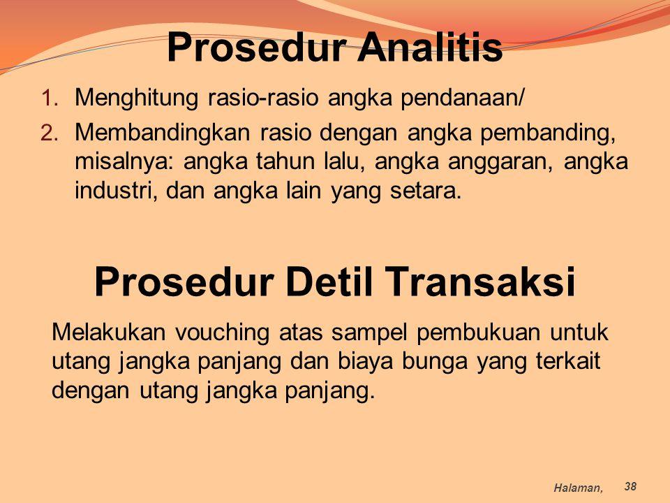 Prosedur Detil Transaksi