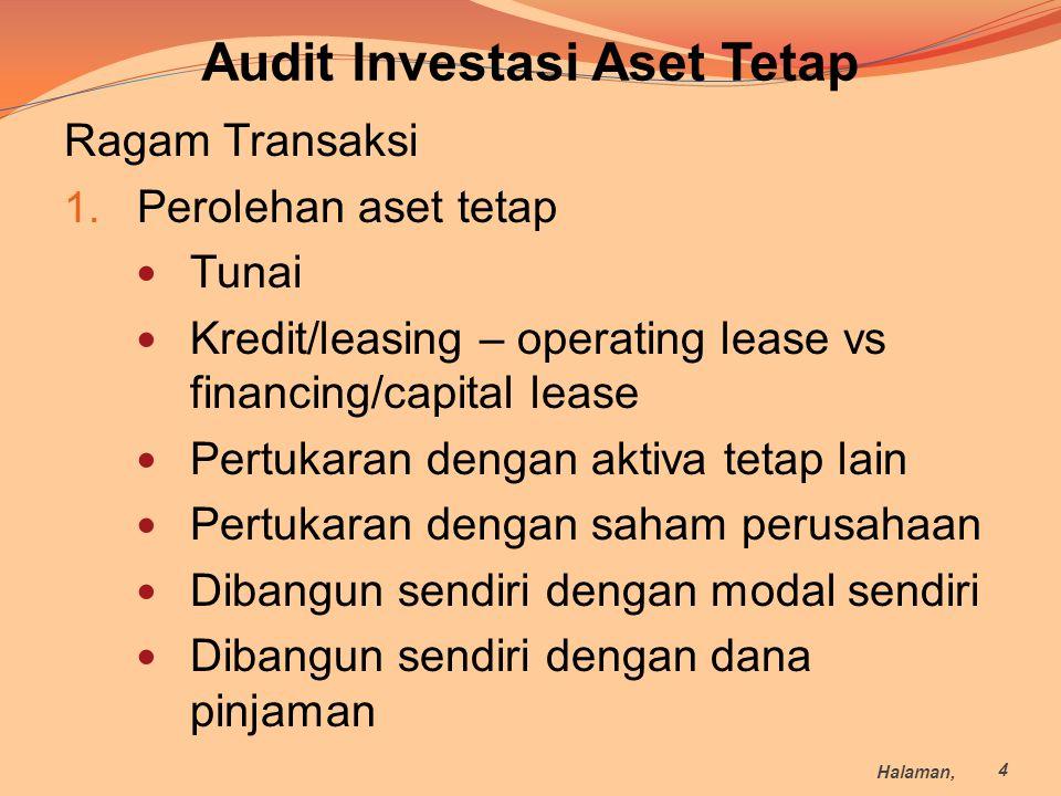 Audit Investasi Aset Tetap
